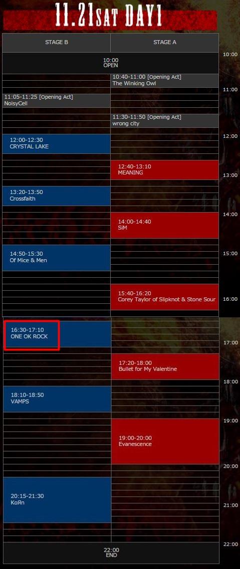 ワンオクがオズフェス2015に!出演日やタイムテーブルがアツい!1