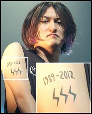 ONE OK ROCK Takaのタトゥー画像まとめ!意味に込めた想いもアツい,イカヅチマークのタトゥー